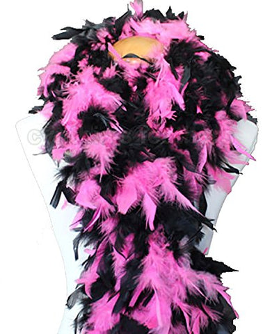 Cynthia's Feathers 80g Chandelle Feather Boa (Hot Pink/Black Mix)
