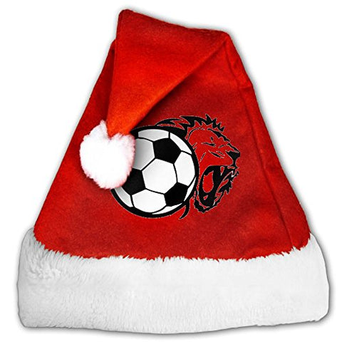 Zhaoqian Football Sports Printed Christmas Hat Red For Mom And Dad