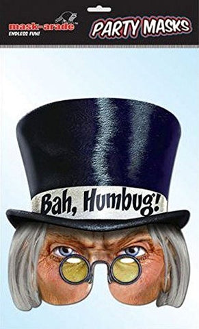 Bah Humbug! Character Face Card Mask, Mask-arade, Impersonation/Fancy Dress