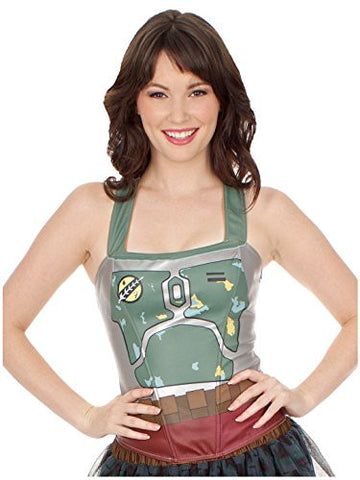 Star Wars Womens Boba Fett Corset Top (X-Large)