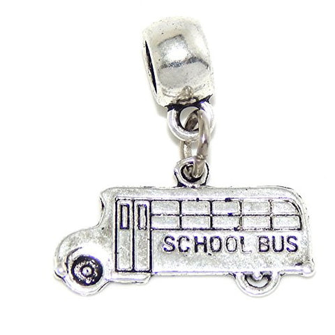 "Jewelry Monster Dangling ""School Bus"" Charm Bead for Snake Chain Charm Bracelets 06750"