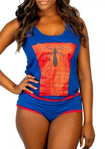 Marvel Comics The Amazing Spiderman Jrs. Underoos Tank Top & Panty Set (XL)