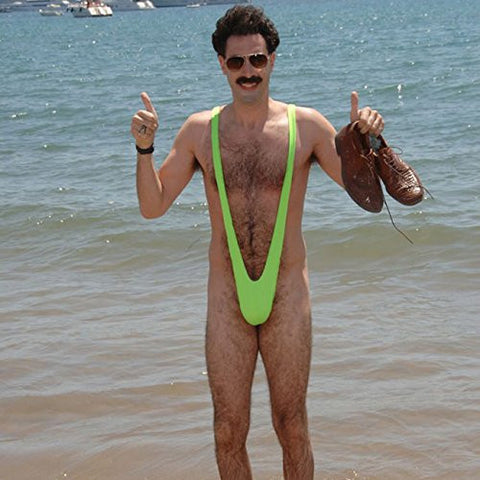 Borat Lycra Mankini Costume (As Shown;One Size)