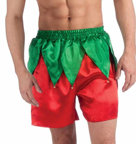 Forum Men's Elf Boxer Shorts, Red/Green, One Size