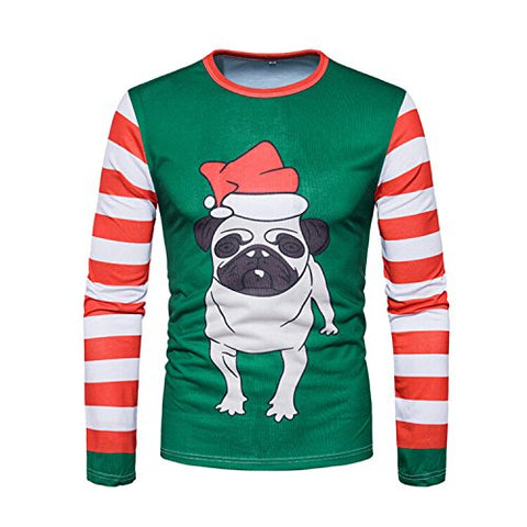 Interming Men's Ugly Christmas Long Sleeve T-Shirt Christmas Gift (M, Style)