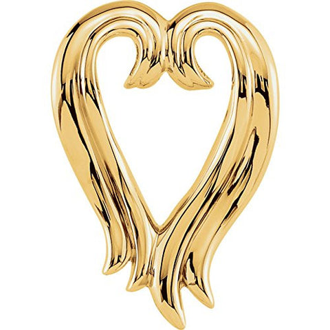 14kt Yellow Heart Shape Pendant Enhancer