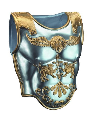 Disguise Men's Roman Armor Costume Accessory, Silver/Gold, Adult