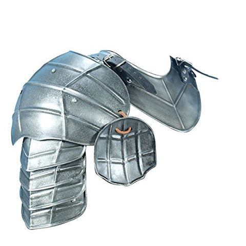 Armor Venue: Medieval Dark Drake Pauldrons Shoulder Armour Silver One Size