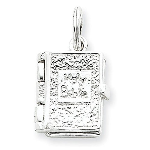 Sterling Silver Holy Bible Charm