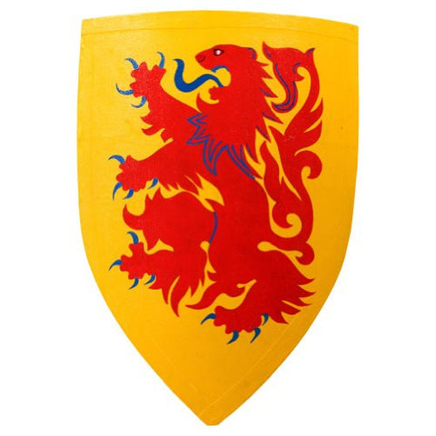 Armor Venue Wooden Crusader Lion Shield - Yellow - One Size Fit Most Armour