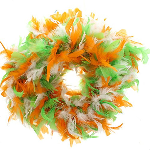 Zac's Alter Ego Women's Orange, White & Green Irish Themed Feather Boa 1.8M Multicoloured