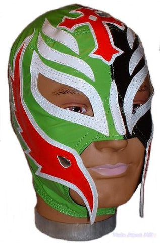 WWE REY MYSTERIO Kid's/ Youth Black/Green LEATHER Mask