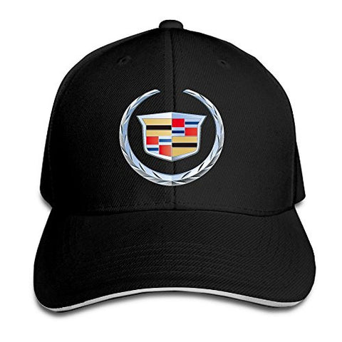 Biotio Cadillac Logo Adjustable Sandwich Peaked Baseball Caps/Hats Adjustable For Unisex