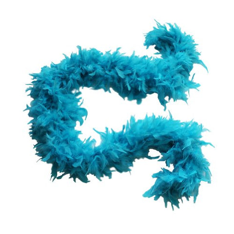 "100g 74"" Turkey Chandelle Feather Boas 20 More Color and Patterns Available (Turquoise)"