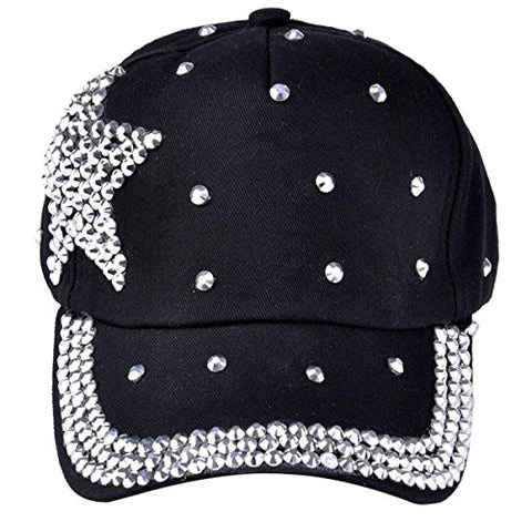 Ztl Kids Outdoor Sports Star Shaped Sparkly Bling Baseball Tennis Hiking Cap