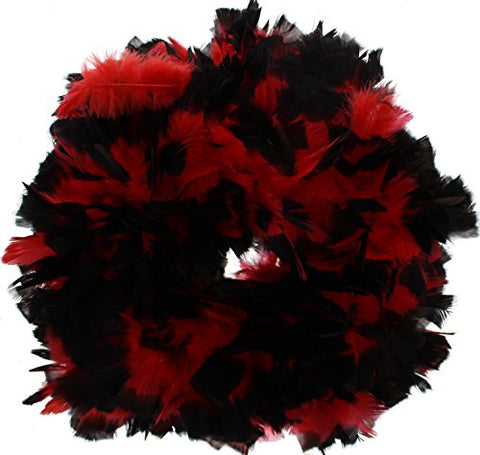Zac's Alter Ego Women's Vibrant Two Tone Heavy Feather Boas 1.8M Black/Red