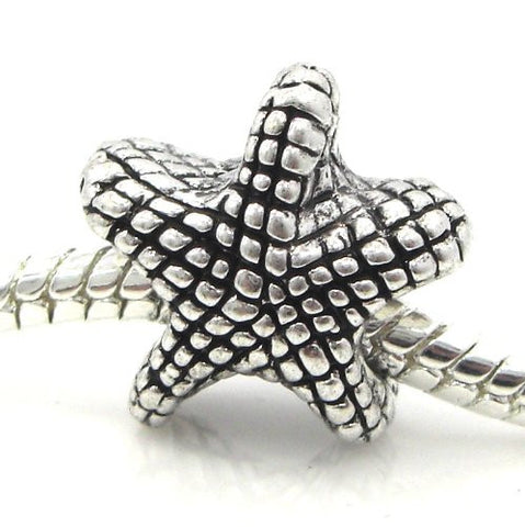 "Jewelry Monster Antique Finish ""Starfish"" Charm Bead for Snake Chain Charm Bracelet"