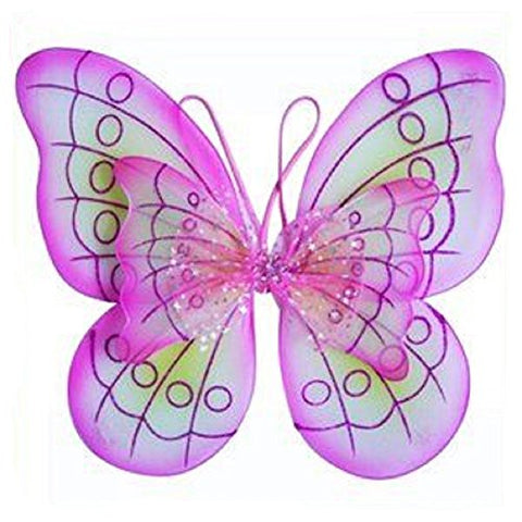 2 X Pink Butterfly Costume Dress-up Wings