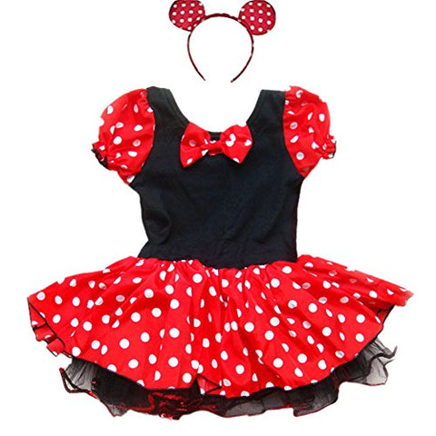 iEFiEL Little Girls Fancy Dressing up Costume Tutu Dress With Ear Headband