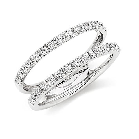 0.50 CT Round Simulated Diamond 14k Solid White Gold Plated Enhancer Wedding Band Ring