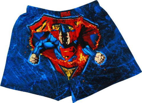 Superman Man of Steel Fire Boxers, Small