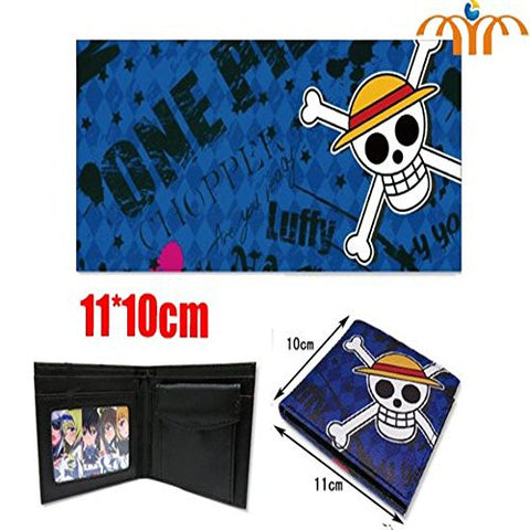 One Piece Wallet - Pirate Monkey D. Luffy Anime Skull And Cross Bones