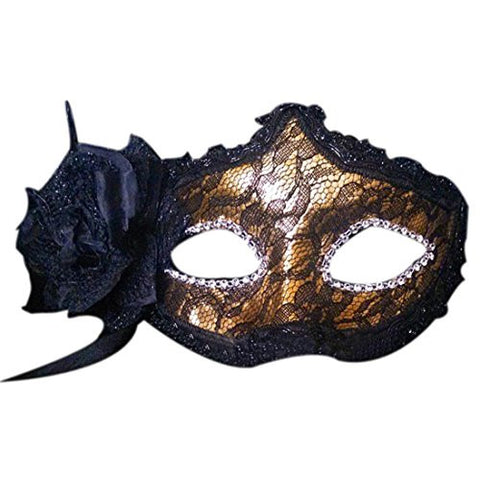 Leoy88 Lace Princess Mask for Halloween Dance Party (Yellow)