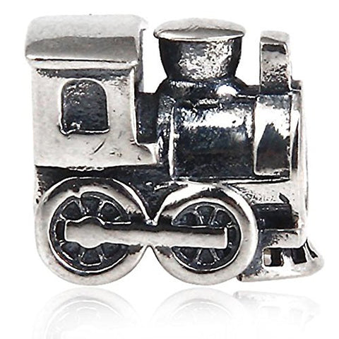 Train Travel Charm 925 Sterling Silver Bead for Pandora Bracelet