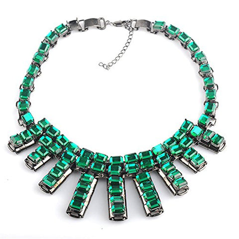 Luxury Brands High-end Retro Big Exaggerated Fashion Resin Rhinestones Necklace Chain Clavicle N00545