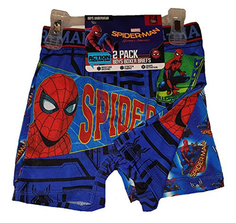Marvel Comics Spider-Man Homecoming 2 Pack Boxer Briefs - Medium