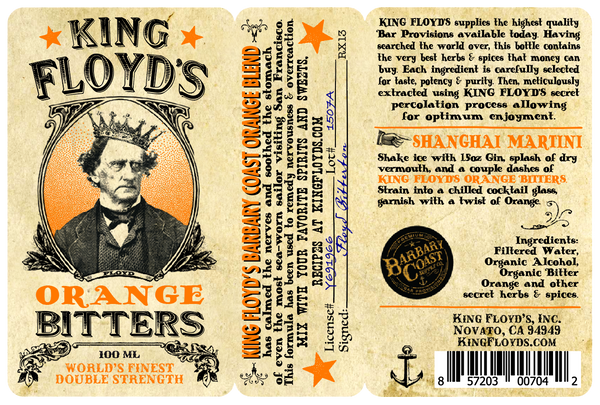 King Floyd's® Bitters ~ Orange