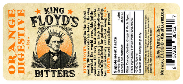 King Floyd's® Bitters ~ Digestive Orange