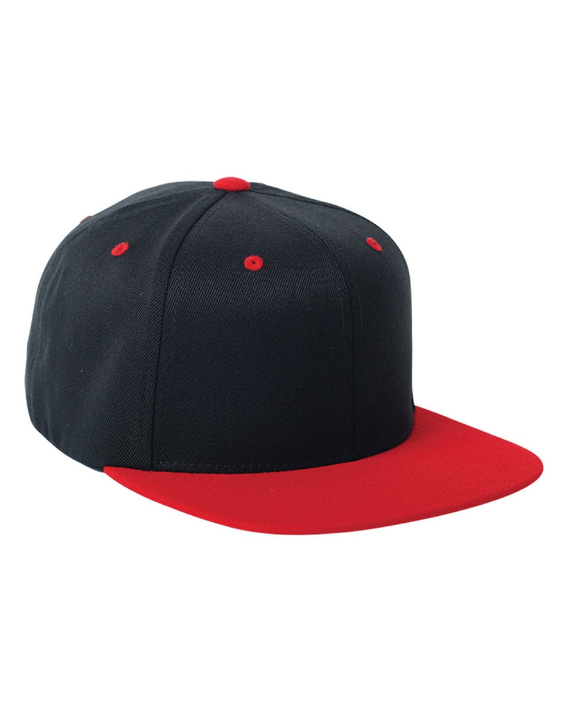 Red on Black, Flex-Fit, Wool Blend, Two-Tone, Snap Back, 110 Hat