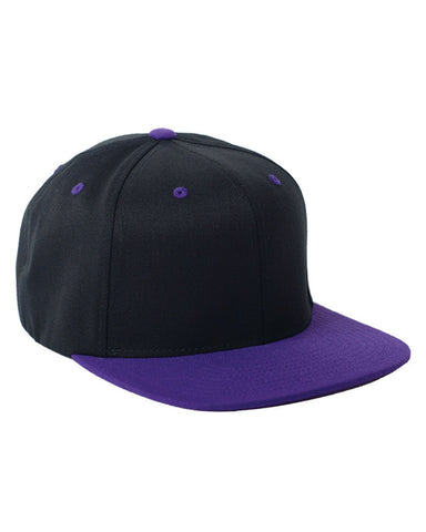 Purple on Black, Flex-Fit, Wool Blend, Two-Tone, Snap Back, 110 Hat
