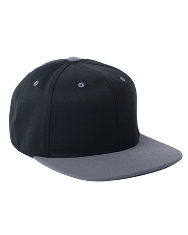 Grey on Black, Flex-Fit, Wool Blend, Two-Tone, Snap Back, 110 Hat