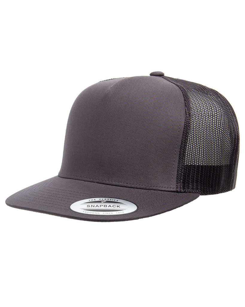 Charcoal 5 Panel Classic Trucker Snap Back