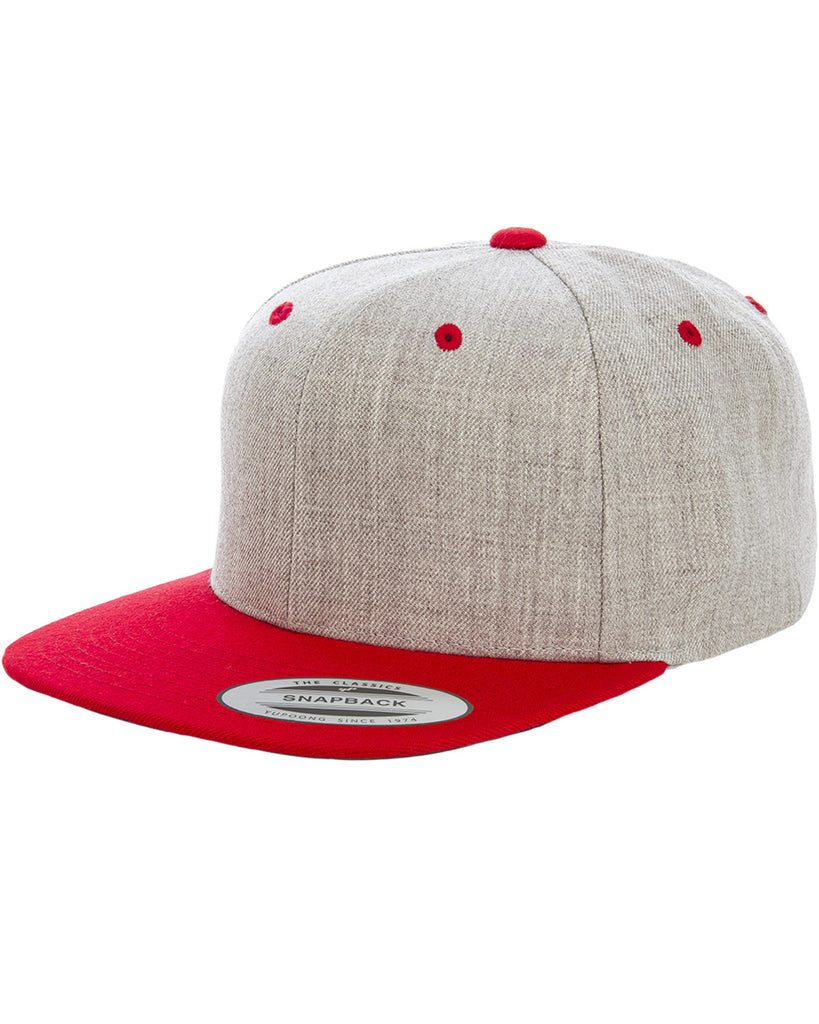 Red and Heather Premium Two Tone Snap Back