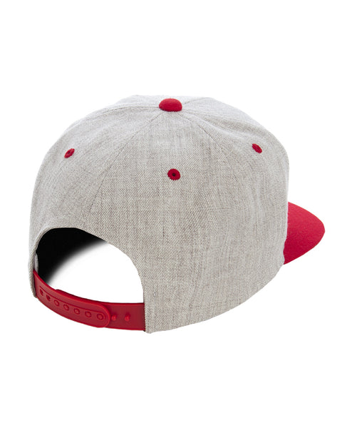 Yupoong Red and Heather Premium Two Tone Snap Back