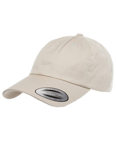 Stone, Dad Hat, Low-Profile, Cotton Twill, Brass Buckle