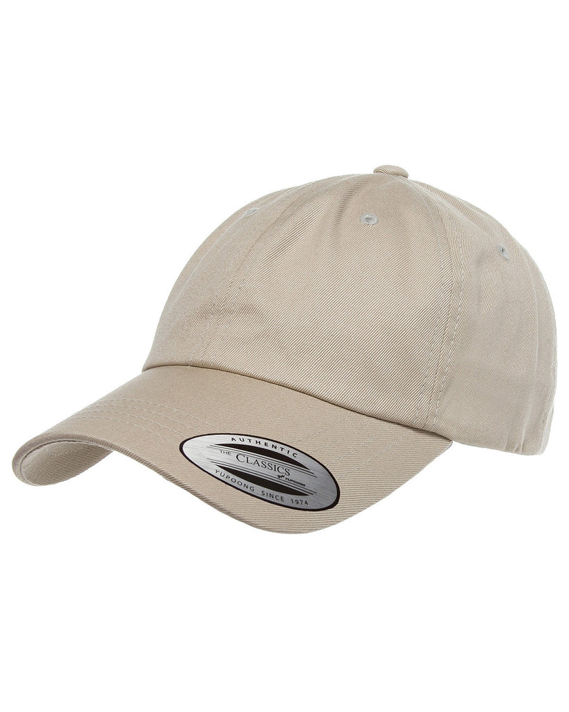 Khaki, Dad Hat, Low-Profile, Cotton Twill, Brass Buckle