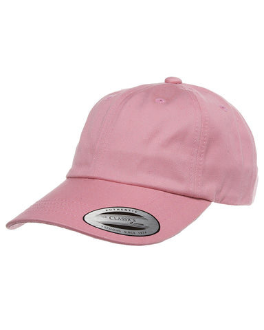 Pink, Dad Hat, Low-Profile, Cotton Twill, Brass Buckle