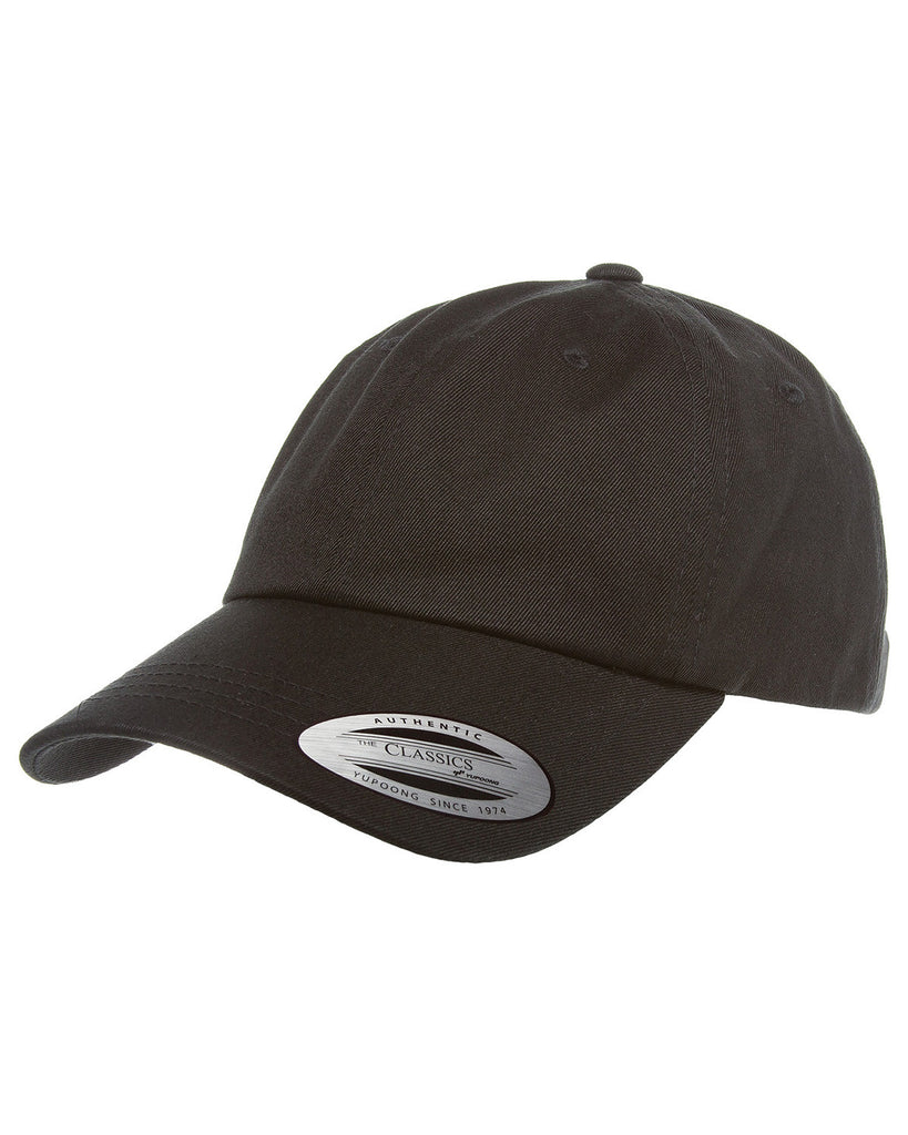 Black, Dad Hat, Low-Profile, Cotton Twill, Brass Buckle