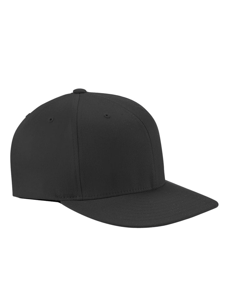Black, Flexfit, Wooly Twill, Pro Baseball, On-Field Shape, Cap