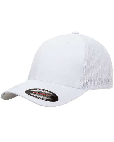 White, Flexfit, 6-Panel, Trucker Hat
