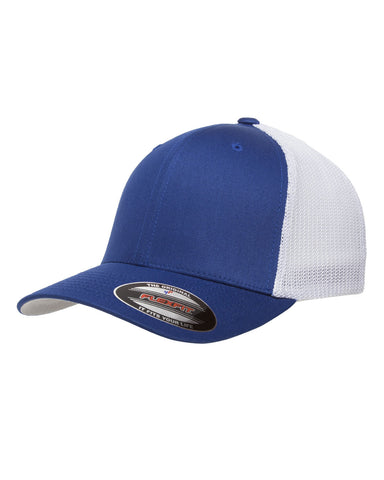 Royal on White, Flexfit, 6-Panel, Trucker Hat