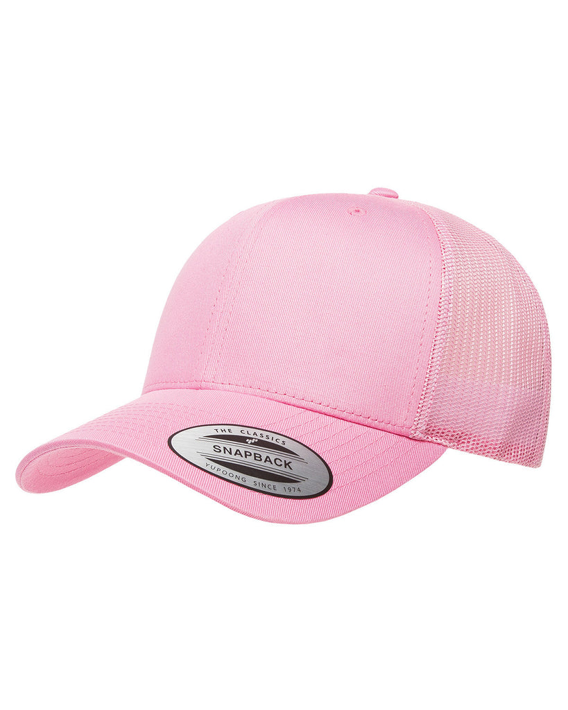Pink on Pink, Retro Trucker Cap, 6 Panel, Mid-Profile, Snap Back