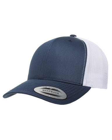 Navy on Navy, Retro Trucker Cap, 6 Panel, Mid-Profile, Snap Back
