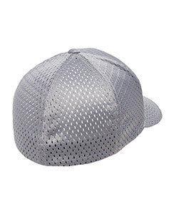 Silver, Flexfit, Adult, Athletic, Mesh, Cap