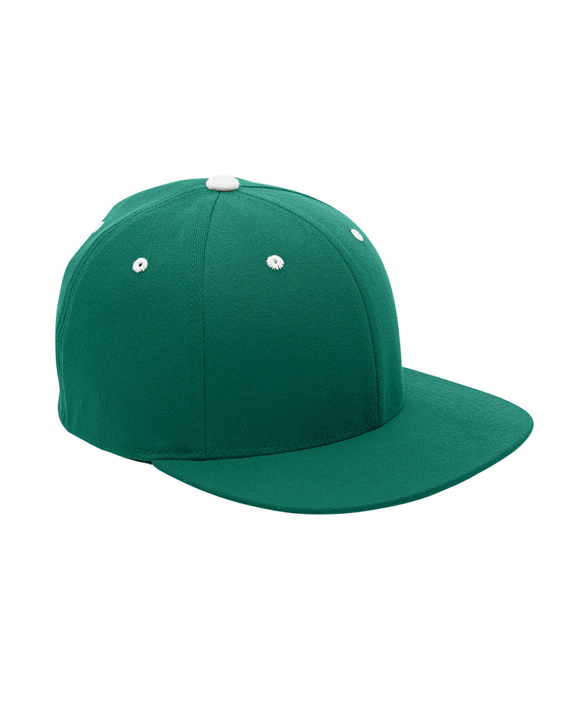 Forest and White, Flexfit, Pro-Formance®, Contrast Eyelets, Fitted Cap