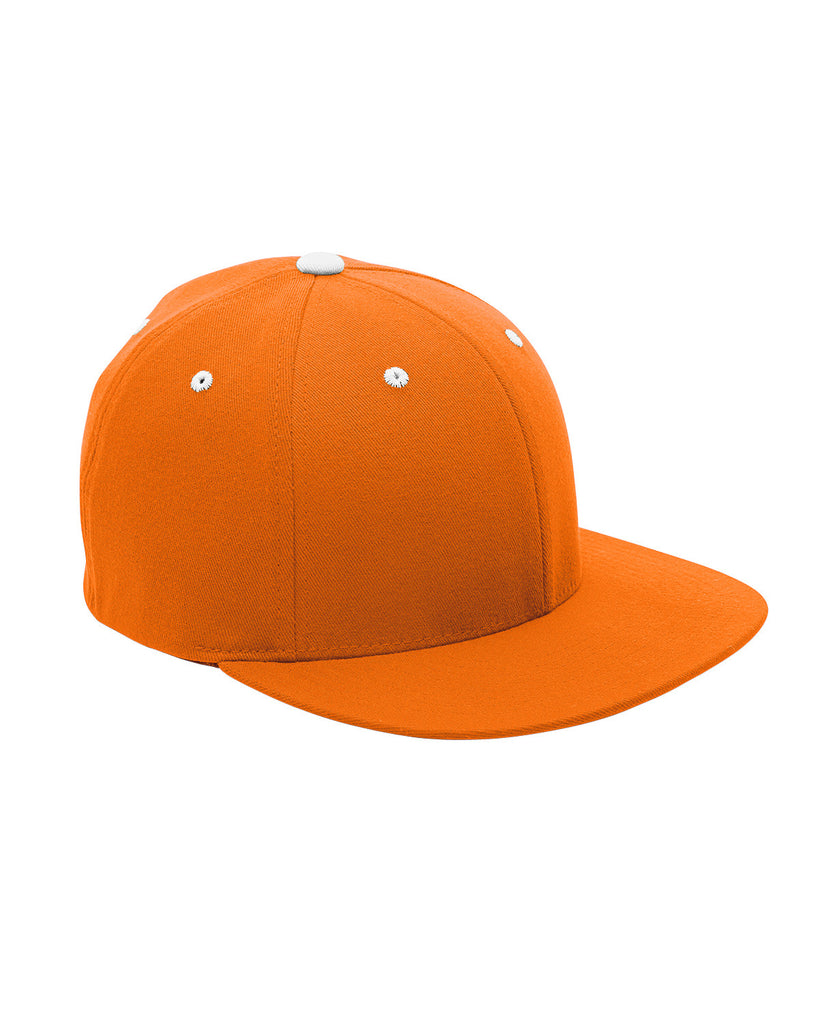 Orange and White, Flexfit, Pro-Formance®, Contrast Eyelets, Fitted Cap